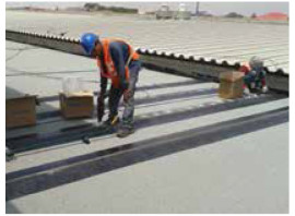 DuO Mecano installation on existing roof